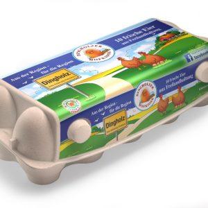 10er Eier aus Freilandhaltung im Online-Shop vom Dingholzer Hofkiosk