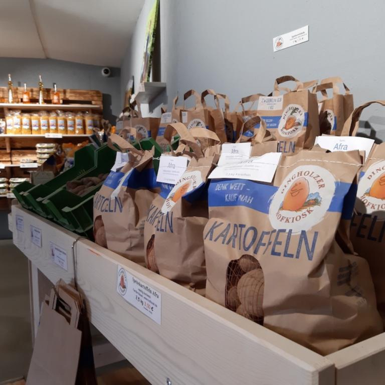 Kartoffelsäcke vom Dingholzer Hofladen